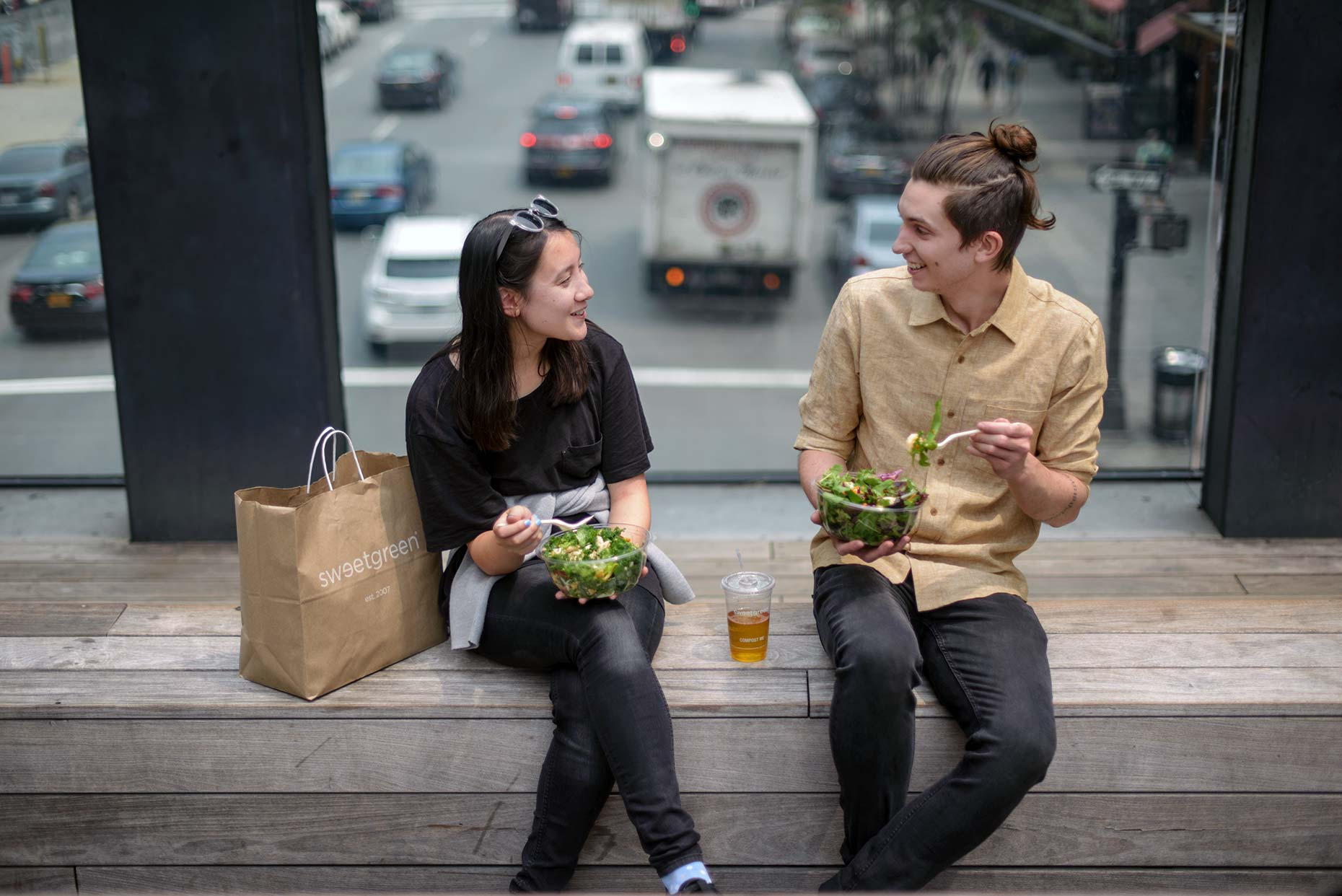 Summer lifestyle media campaign for sweetgreen. Photographed 2015 in Manhattan.